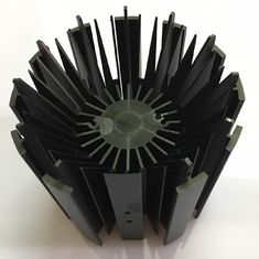 LED Module Street Light Aluminium Heat Sink Profiles With Black Anodizing